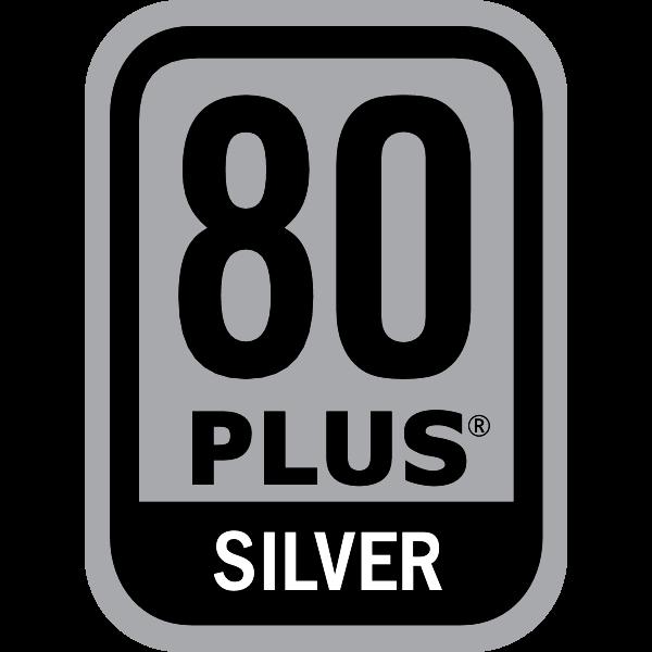 Power Supply 80 PLUS Silver Certification Logo ,Logo , icon , SVG Power Supply 80 PLUS Silver Certification Logo