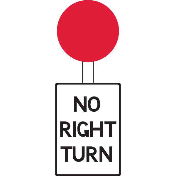 Pre-Worboys – No Right Turn – Complete Assembly – 1944 ,Logo , icon , SVG Pre-Worboys – No Right Turn – Complete Assembly – 1944