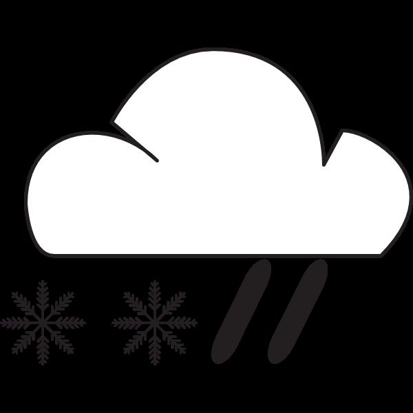 RAIN AND SNOW WEATHER Logo ,Logo , icon , SVG RAIN AND SNOW WEATHER Logo