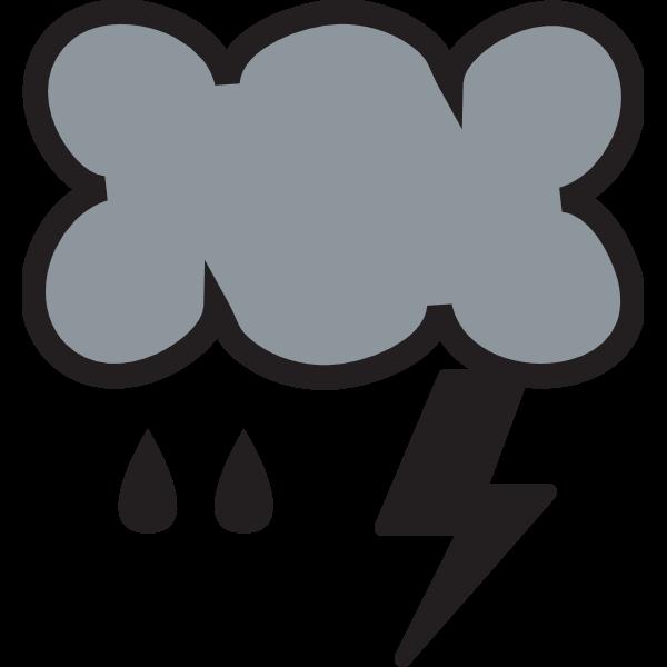 RAIN WITH LIGHTNING WEATHER SYMBOL Logo ,Logo , icon , SVG RAIN WITH LIGHTNING WEATHER SYMBOL Logo
