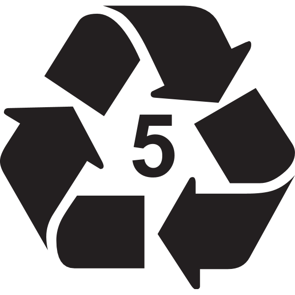 RECYCLABLE TYPE 5 LABEL Logo ,Logo , icon , SVG RECYCLABLE TYPE 5 LABEL Logo