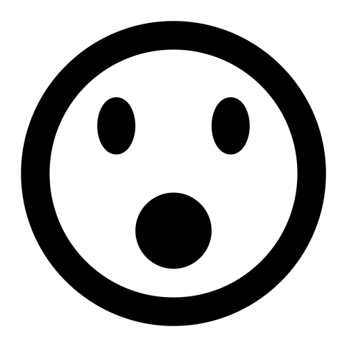 shocked ,Logo , icon , SVG shocked