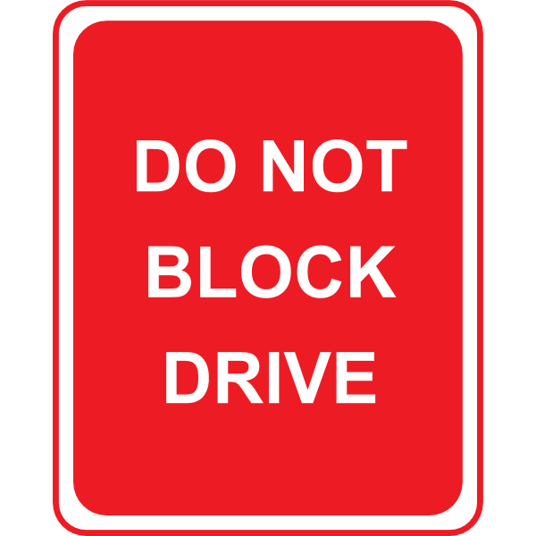 SIGN DO NOT BLOCK DRIVE Logo ,Logo , icon , SVG SIGN DO NOT BLOCK DRIVE Logo