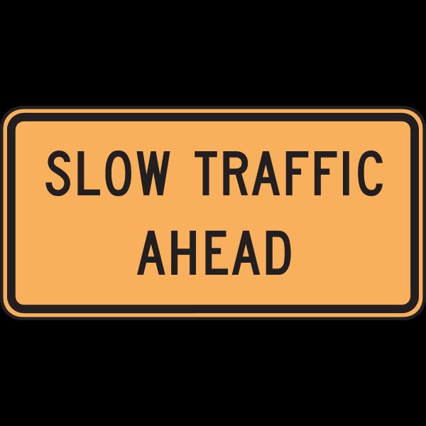 SLOW TRAFFIC AHEAD SIGN Logo ,Logo , icon , SVG SLOW TRAFFIC AHEAD SIGN Logo