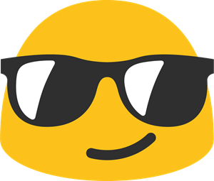 Smile with Glasses Emoji Logo ,Logo , icon , SVG Smile with Glasses Emoji Logo