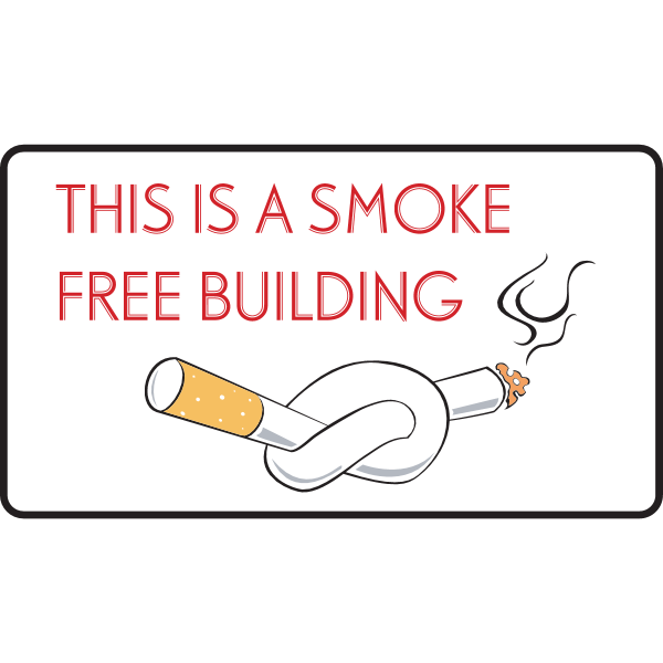 SMOKE FREE BUILDING SIGN Logo ,Logo , icon , SVG SMOKE FREE BUILDING SIGN Logo