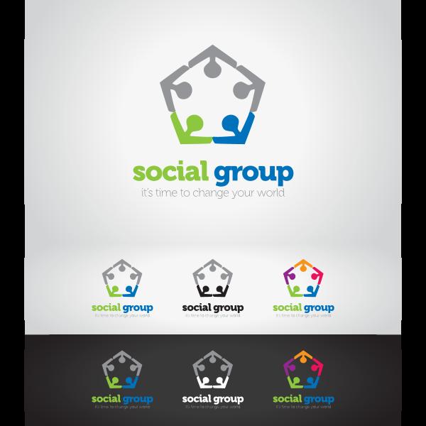 Social Group Logo ,Logo , icon , SVG Social Group Logo