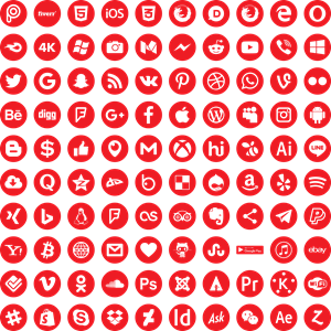 Social Media Icons Logo ,Logo , icon , SVG Social Media Icons Logo
