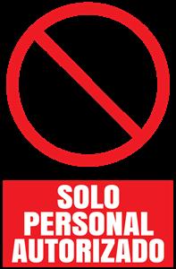 solo personal autorizado Logo ,Logo , icon , SVG solo personal autorizado Logo