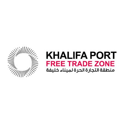 شعار منطقة التجار الحرة لميناء خليفة KHALIFA PORT ,Logo , icon , SVG شعار منطقة التجار الحرة لميناء خليفة KHALIFA PORT