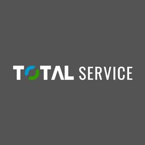 Total Service White Version Logo ,Logo , icon , SVG Total Service White Version Logo