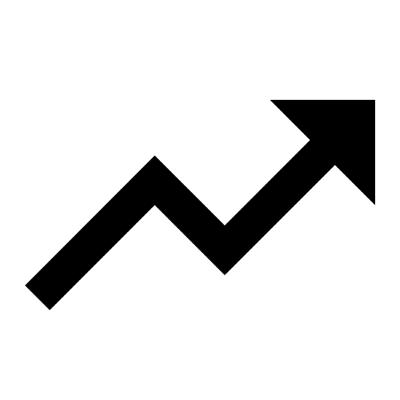trending up ,Logo , icon , SVG trending up