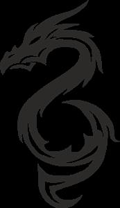 Triba Black Dragon Logo ,Logo , icon , SVG Triba Black Dragon Logo