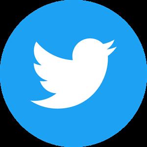 Twitter Icon Circle (Blue) Logo