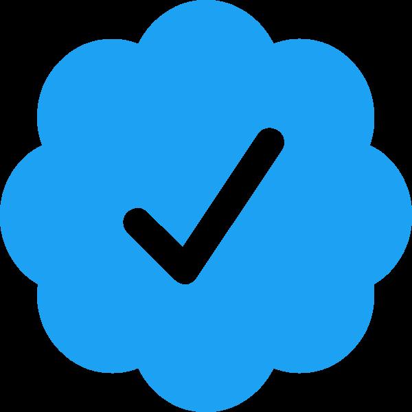Twitter Verified Badge ,Logo , icon , SVG Twitter Verified Badge