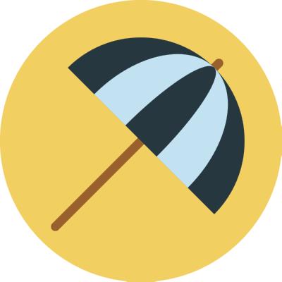 umbrella ,Logo , icon , SVG umbrella