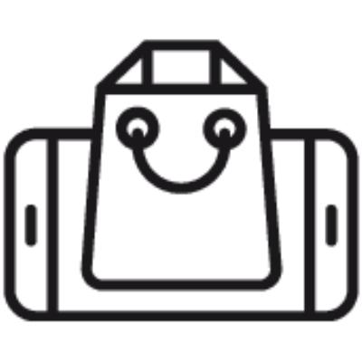 Mobile commerce ,Logo , icon , SVG Mobile commerce