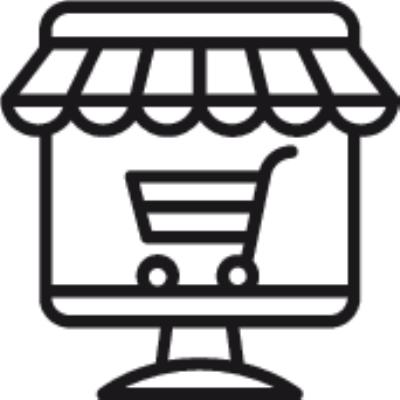 shop online ,Logo , icon , SVG shop online