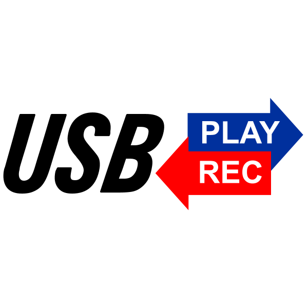 USB Play and Rec Logo ,Logo , icon , SVG USB Play and Rec Logo