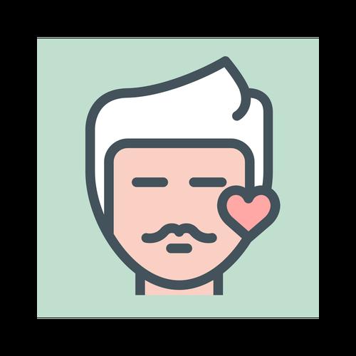 Valentines Day Flat Line ,Logo , icon , SVG Valentines Day Flat Line