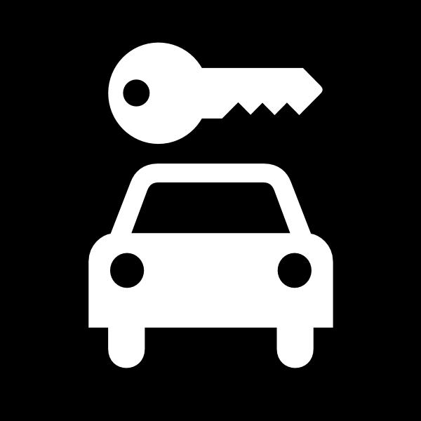 VEHICLE RENTAL SIGN Logo ,Logo , icon , SVG VEHICLE RENTAL SIGN Logo