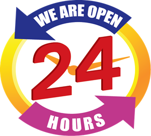 We Are Open 24 hours Logo ,Logo , icon , SVG We Are Open 24 hours Logo