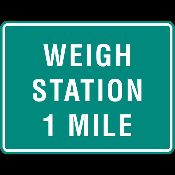 WEIGH STATION 1 MILE SIGN Logo ,Logo , icon , SVG WEIGH STATION 1 MILE SIGN Logo