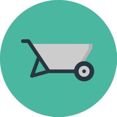 wheelbarrow ,Logo , icon , SVG wheelbarrow