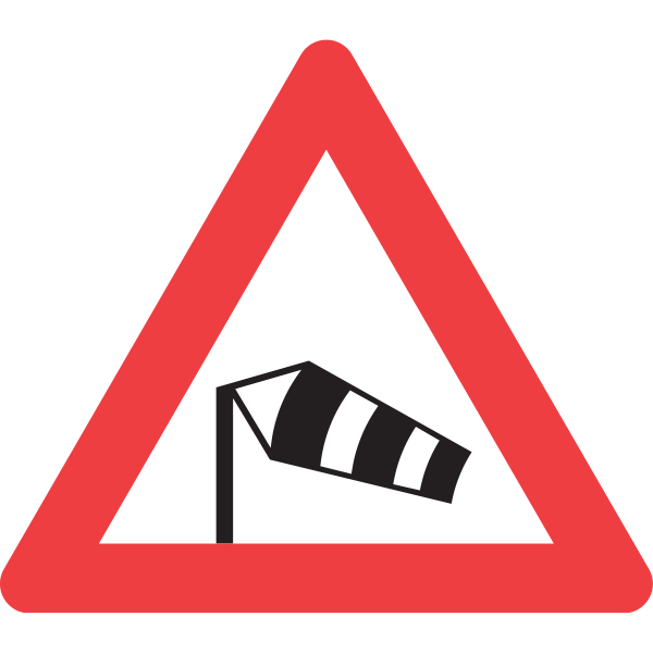 WIND WARNING TRAFFIC SIGN Logo ,Logo , icon , SVG WIND WARNING TRAFFIC SIGN Logo