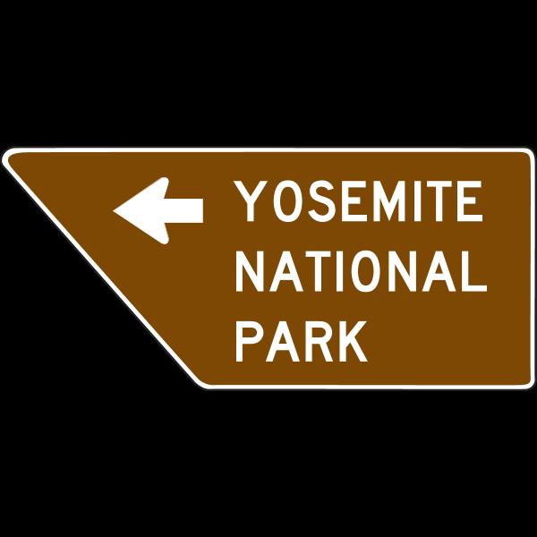 YOSEMITE PARK DIRECTION SIGN Logo ,Logo , icon , SVG YOSEMITE PARK DIRECTION SIGN Logo