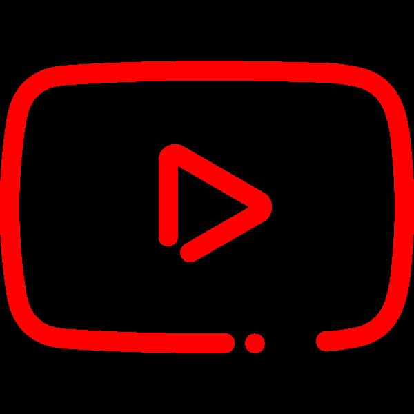 YouTube Minimal Icon ,Logo , icon , SVG YouTube Minimal Icon